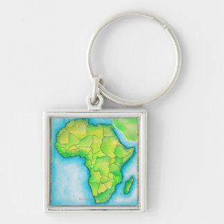 Map of Africa Key Ring