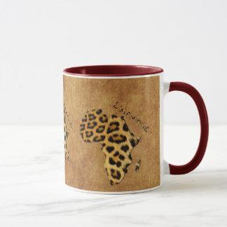 Map of AFRICA Leopard Spots Wildlife Mug