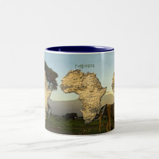 Map of AFRICA Series Two-Tone Coffee Mug