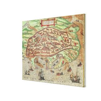 Map of Alexandria Canvas Print