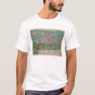 Map of Algiers, from 'Civitates Orbis Terrarum' by T-Shirt