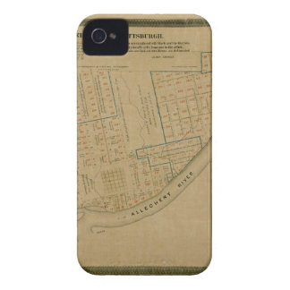 Map Of Allegheny 1863 iPhone 4 Case-Mate Case