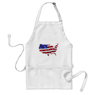 Map of America American Flag Standard Apron