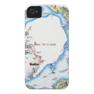 Map of Arctic iPhone 4 Case-Mate Case
