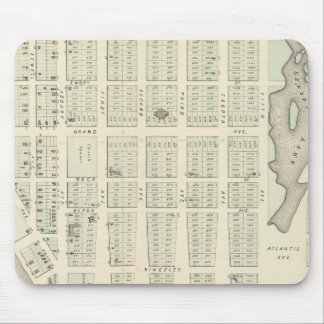 Map of Asbury Park, Monmouth County, New Jersey Mouse Pad