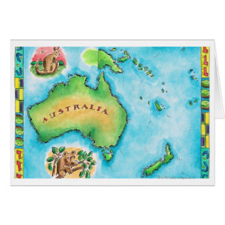 Map of Australia 2 Card