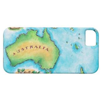 Map of Australia 2 iPhone 5 Case