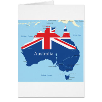 Map Of Australia Greeting Cards
