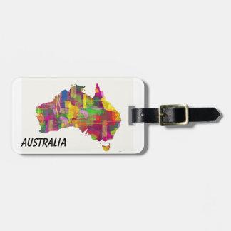 MAP OF AUSTRALIA - Luggage tag