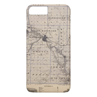 Map of Black Hawk County, State of Iowa iPhone 8 Plus/7 Plus Case