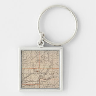 Map of Brown County with Plan of Nashville Key Ring