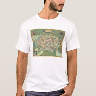 Map of Cambrai, from 'Civitates Orbis Terrarum' by T-Shirt