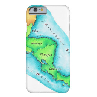 Map of Central America Barely There iPhone 6 Case