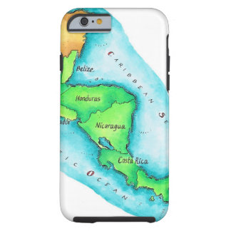 Map of Central America Tough iPhone 6 Case