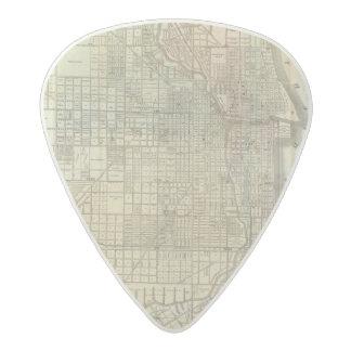 Map Of Chicago Acetal Guitar Pick