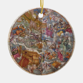 Map of Christian Constellations, Southern Skies Christmas Ornament