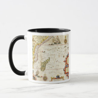 Map of East Africa and Madagascar, 1596 (hand colo Mug
