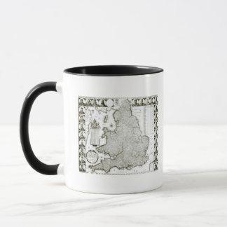 Map of England and Wales, 1644 Mug