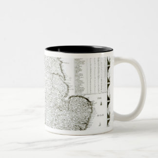 Map of England and Wales, 1644 Two-Tone Coffee Mug