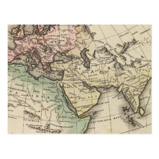 map of Europe, Northern Africa and Southeast Asia Postcard