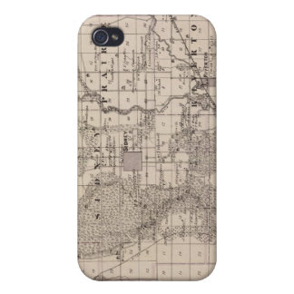 Map of Fremont County, State of Iowa Covers For iPhone 4