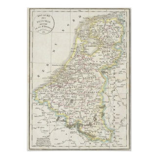 Map of Holland 1832 - Delamarche Poster