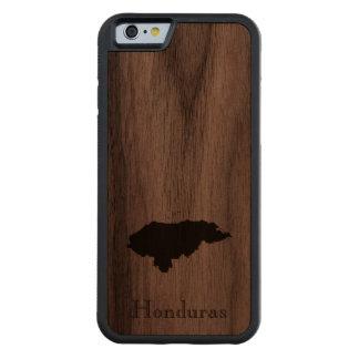 Map of Honduras: Classic Design Carved Walnut iPhone 6 Bumper Case