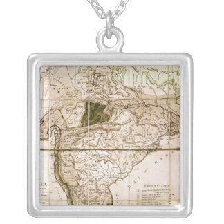 Map of India, 1803 Silver Plated Necklace