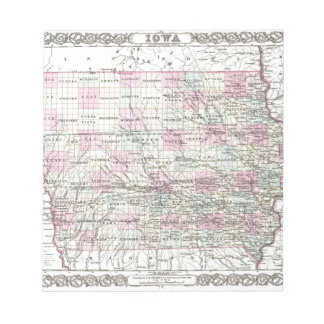 Map of Iowa. Joseph Hutchins Colton Notepad