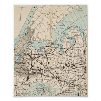 Map of Kings, Queens, Long Island Poster