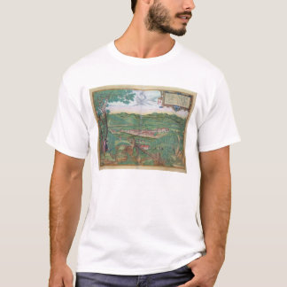 Map of Linz, from 'Civitates Orbis Terrarum' by Ge T-Shirt