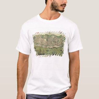 Map of Lisbon, from 'Civitates Orbis Terrarum' by T-Shirt