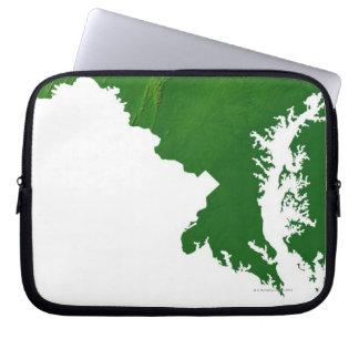 Map of Maryland 3 Laptop Sleeve