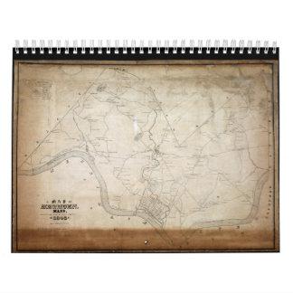 Map of Methuen Massachusetts in 1846 Wall Calendars