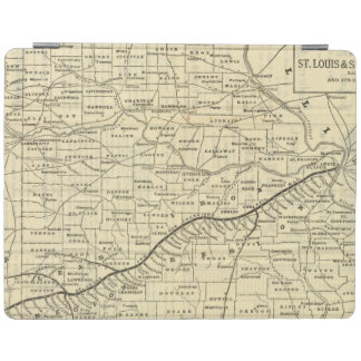 Map of Missouri 2 iPad Cover