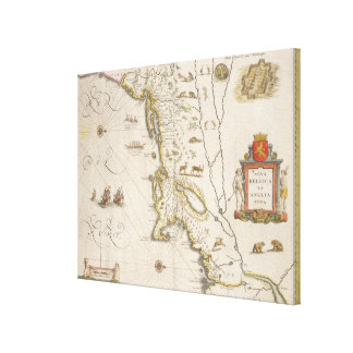 Map of New Belgium and New England, pub. in Amster Canvas Print