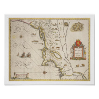 Map of New Belgium and New England, pub. in Amster Poster