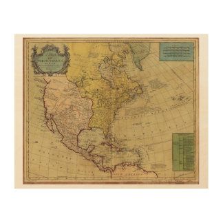 Map of North America (1765) Wood Prints