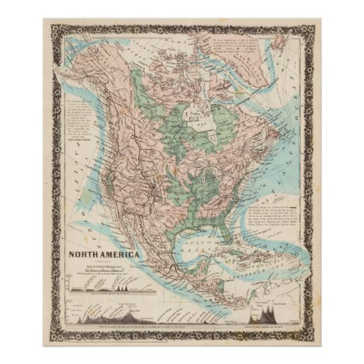 Map of North America (1859) Posters