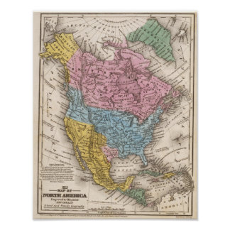 Map of North America 2 Poster