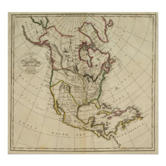 Map of North America 3 Poster