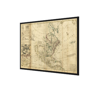 Map of North America by Herman Moll (1715) Stretched Canvas Prints