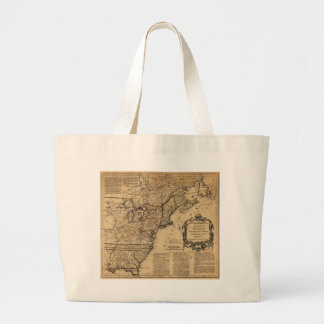 Map of North America by Jefferys & Anville (1755) Large Tote Bag