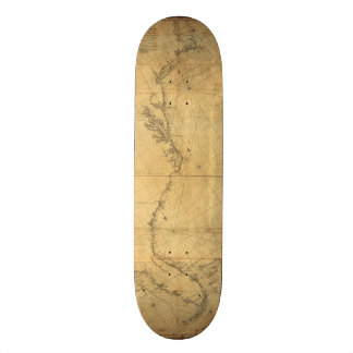 Map of North America Cape Cod to Havannah (1784) Skate Decks