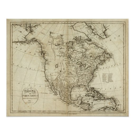 Map of North America Print