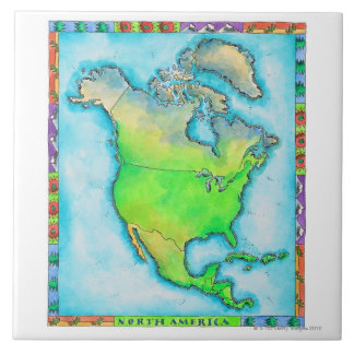 Map of North America Tile