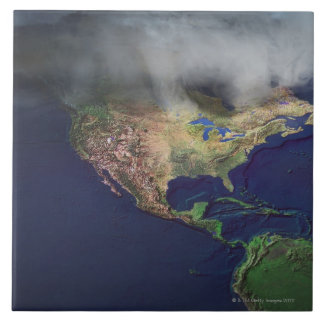 Map of North America with fog Tile