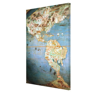 Map of North and South America Canvas Print