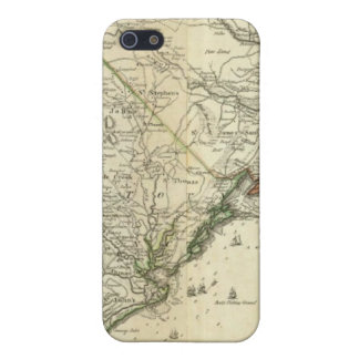 Map Of North And South Carolina Case For The iPhone 5