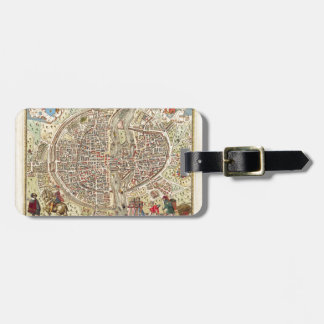 Map of Paris, 1576 Luggage Tag